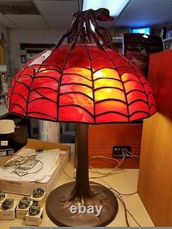 16x24 Tiffany Style Lamp. Handmade by local artist. One of a kind Spider theme