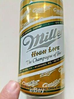 1970's Miller High Life Beer Empty Rare One of a Kind Factory Test Can, 12 oz Can