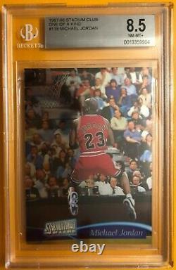 1997-98 Michael Jordan Stadium Club One Of A Kind SN 150 BGS 8.5
