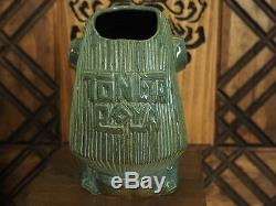1/1 Tiki Mug by Eekum Bookum + Kaku Kaku LE #50 One of a Kind Custom Glaze