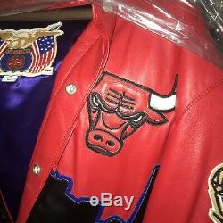 1 Of Kind Jordan Bulls Jacket Collection. Three Peat Jacket Only One Signed