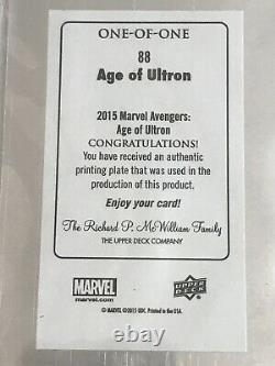 2015 AVENGERS Scarlet Witch PRINTING PLATE One of a Kind 1/1 Elizabeth Olsen BGS