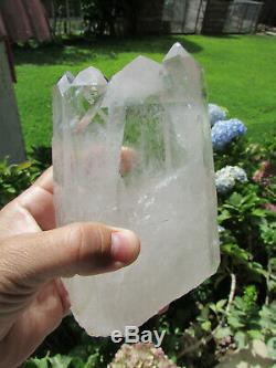 6 1/2 Astonishing Natural One Of A Kind Tantric Twin Crystal Quartz 3.46 Lbs