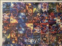 94 Marvel Masterpieces Uncut Print Sheet Ultra Rare One Of Kind
