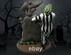 9in COLLECTIBLE BEETLEJUICE STATUE FIGURE Hand Painted One Of A Kind