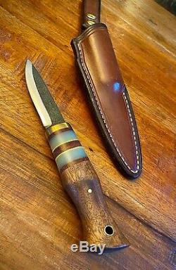 AA Forge Rare- One Of A Kind Puukko Inspired Bushcraft Knife With Leather Sheath