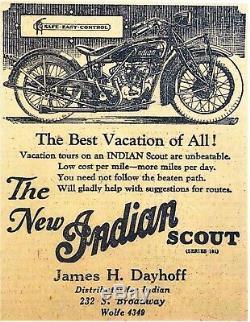 Antique INDIAN DEALER Delivery Bike Original One-Of-A-Kind INDIAN MuseumPiece