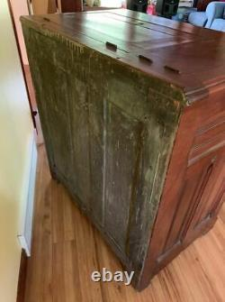 Antique Ice Box Very Ornate & one of a kind