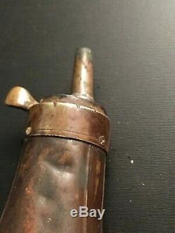 Antique One Of A Kind Civil War Relic Colt Black Powder Flask With Cap Tin