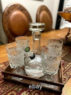 Antique One Of A Kind Crystal Decanter Bong Water Pipe Hookah 14mm