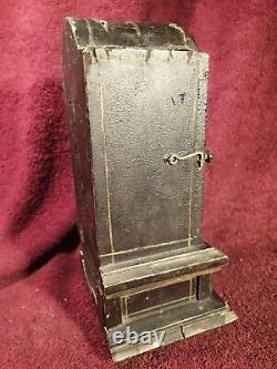 Antique One Of A Kind Pocket Watch Holder Case Locker Signed On Backside