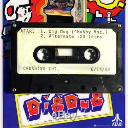 Atari Artifact Chubby Checker Sings'dig Dug' One Of Kind Cassette ('83)
