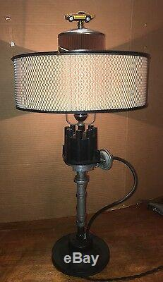 Automotive Steam Punk Vintage Antique One Of A Kind Electric Table Lamp