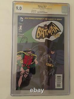 Batman'66 #1 RARE! One of a Kind -Signed by Adam West, Burt Ward & Both Allreds