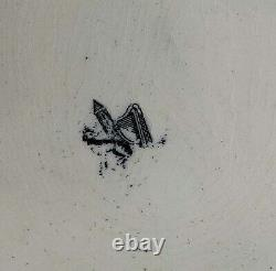 Belleek Art / Earthenware Platter First Black Mark. Hand painted. One of a Kind
