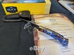 Buck 110 Custom Leroy Remer One of a kind Patriotic Kirinite / Copper NIB