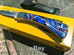 Buck 110 Custom Shop Remer One of a kind Patriotic / accents in Copper NIB