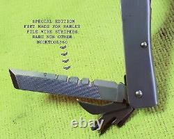 Buck Tool 360, Rare Harleydavison As It Is In Type Of Custom Sheath One Of A Kind