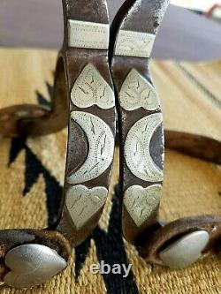 CROCKETT Custom made One of a Kind-1930's-Goosehead SPURS & STRAPS withHistory