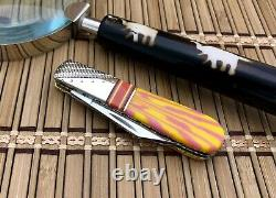 Case XX USA Wild Horse Custom Salmon CORAL One of a Kind AAA+ Barlow Knife #1/1