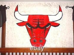 Chicago Bulls License Plate Logo Sign! One Of A Kind Piece For A Bulls Fan
