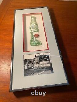 Coca Cola One-Of-A-Kind Actual Glass Bottle Broken Art St. Pete FL Photo Framed