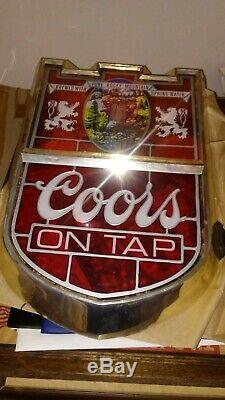 Coors Beer Sign Antique one of a kind Large 17x12