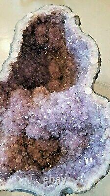 Custom Amethyst Glass Table Geode one of a kind- collector gem geology rare
