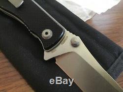 Custom Prototype One of a Kind Red Blade Knives Flipper Folder Knife