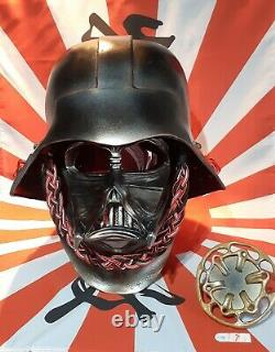 Darth vader helmet starwars 1.1 scale life size samurai version one of a kind