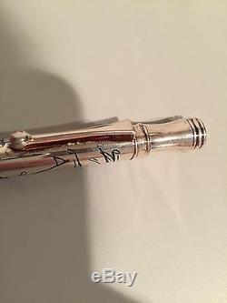Disney Mickey Mouse Silver Overlay Golfing Pen Extremely Rare One Of A Kind