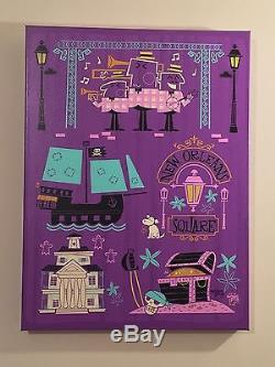 Disney WonderGround One of A Kind Giclee on Canvas New Orleans Square Ben Burch