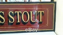 Extra Large Guinness Stout Mirror ONE OF A KIND! Irish Pub Bar Back Tavern WOW