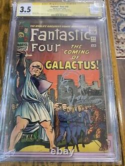 Fantastic Four 48 CGC 3.5 SIGNED JACK KIRBY sketched Joe Sinnott One Of A Kind