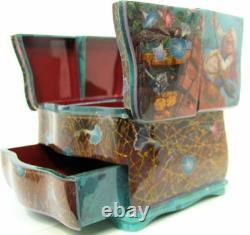 Fedoskino One of a Kind Russian Lacquer Box Baba-Yaga by Alexander Maslov
