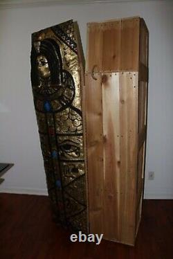 Full size, unique, one on its kind wooden hand made coffin & Sarcophagus replica