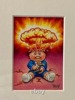 Garbage Pail Kids John Pound original art Adam Bomb ONE OF A KIND