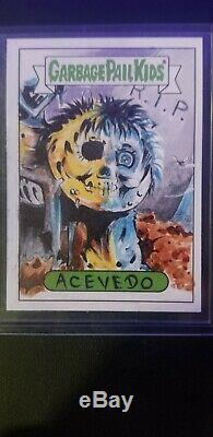 Garbage Pail Kids Sketch Card One Of A Kind Acevedo