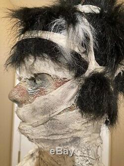 Gemmy Halloween Lifesize Mummy Bride Animatronic Talking Prop 6 Ft One of a Kind