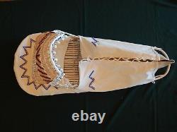Genuine Vintage Handmade Paiute Beaded Cradle Board ONE OF A KIND NEW