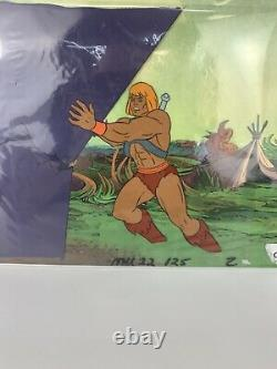 HEMAN Animation Production Cel MASTERS OF THE UNIVERSE MU22 COA One Of A Kind