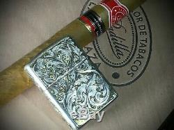 Hand engraved lighter. One of a kind