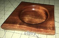 Handmade Hawaiian KOA Wood Art Bowl DishOne of a KindRetro StyleLocal Artist