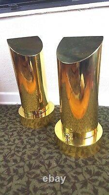Hart Associates pair Brass Table Lamps Custom One-of-a-Kind Mid Century Modern