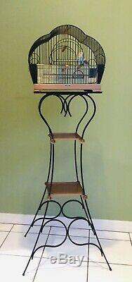Hendryx Bird Cage Antique Art Deco + Stand, One-of-a-Kind Collectible