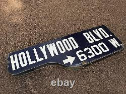 Historic HOLLYWOOD BLVD (and Vine) STREET SIGN / Photo Proof / One-of-a-Kind