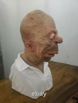 Homer Simpson Silicone Life Size Bust 11 Custom not Sideshow One of a Kind