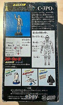 Irreplaceable one-of-a-kind diecast C3PO missile firing figure Japan Star Wars