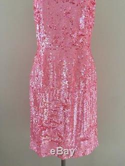 J. Crew Collection $650 Sequin Party Cocktail Dress 6 Pink Formal One Of A Kind