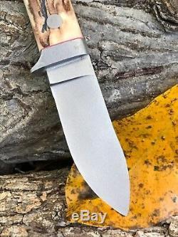 Jenkins Custom Fixed Blade with Leather Sheath Unused One Of A Kind